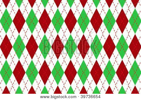 Argyle pattern in christmas colors