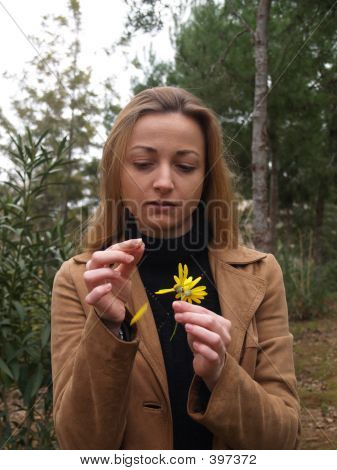 Young Woman With Flower
