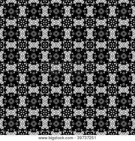 White & Black Ornate Background