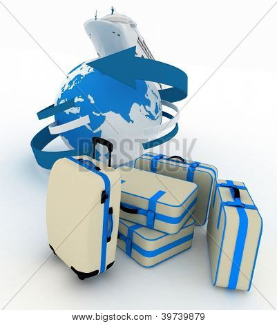 luggage for a round-world voyage