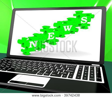 News On Laptop Shows Newsletters