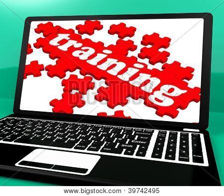 Rompecabezas en cuaderno de formación muestra Webinars