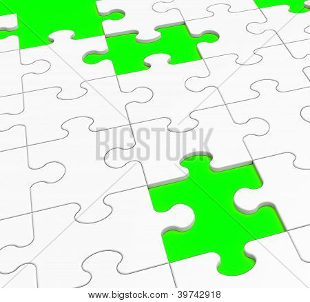 Unfinished Puzzle Showing Lost Pieces
