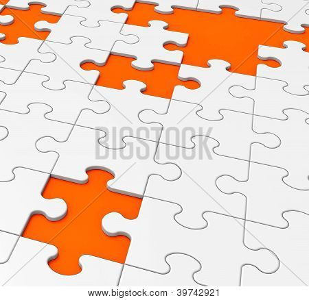 Unfinished Puzzle Shows Missing Pieces