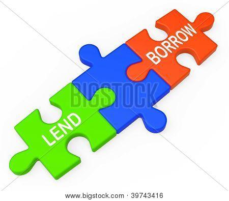 Lend Borrow Shows Borrowing Or Lending