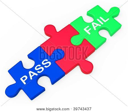 Pass Fail Shows Exam Or Test Results
