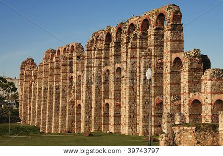 Side View Of Merida Aqueduct
