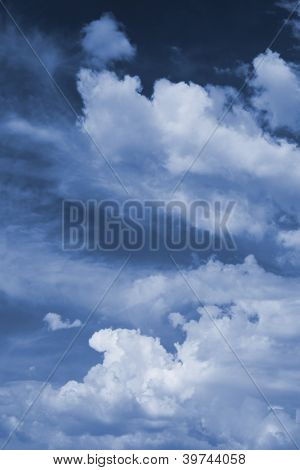 gloomily sky background. cloudscape