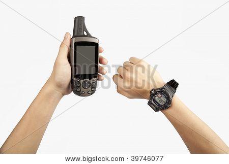 GPS with a Digital watch