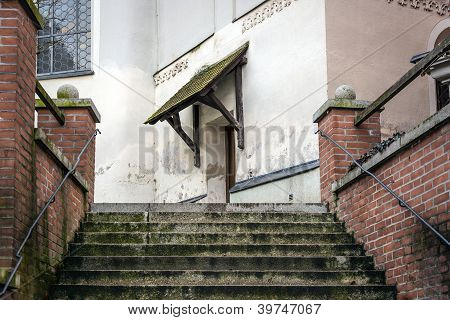 Stairs To Entrance Of A Church