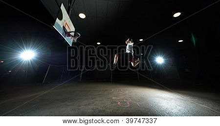 Basketball Player At Night