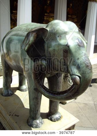 Bronze Figure Of Elephant