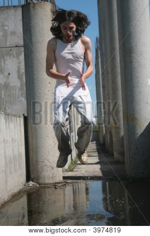 Man Levitation Above Water