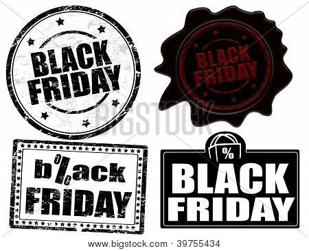 Black Friday Stamps And Label