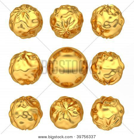 Abstract Deformed Golden Balls