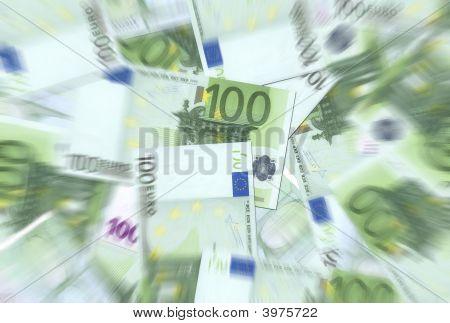 100 Euro Notes Texture Radial Blur