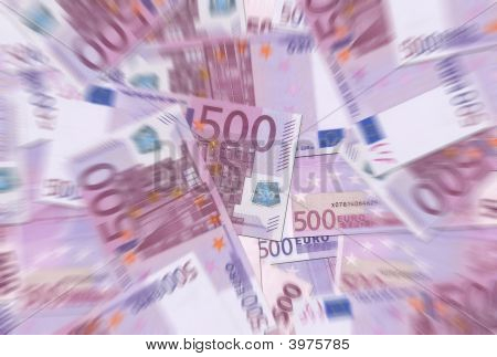 500 Euro Notes Texture Radial Blur