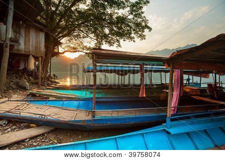 boat in Ba Be National Park,Vietnam