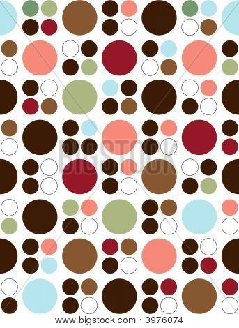 Seamless Retro Style Circle Background