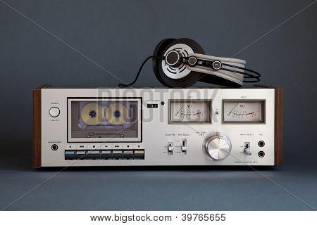 Stereo Cassette Tape Deck Analog Vintage