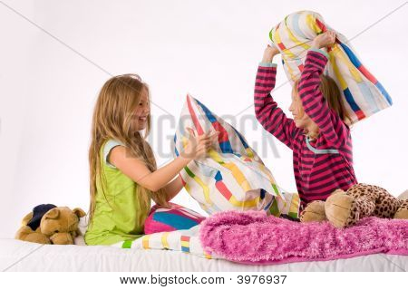 The Girls Pillow Fight