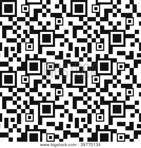 QR code seamless pattern background