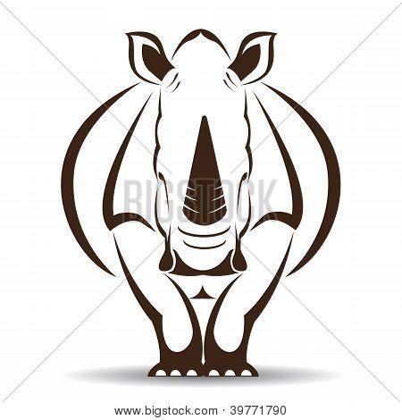 Vektor-Bild ein Rhino