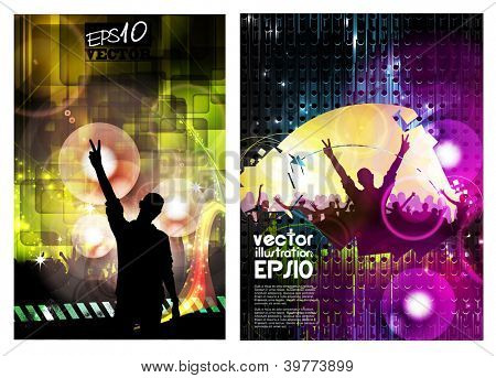 Concert posters collection. Vector illustration