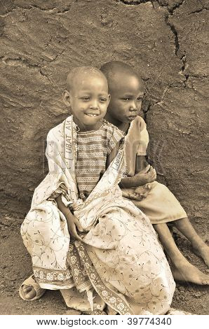 Young African children