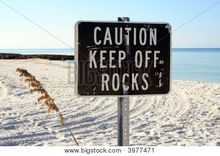 Beachside Warning Sign
