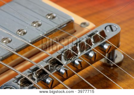 Guitar Bridge Close-Up