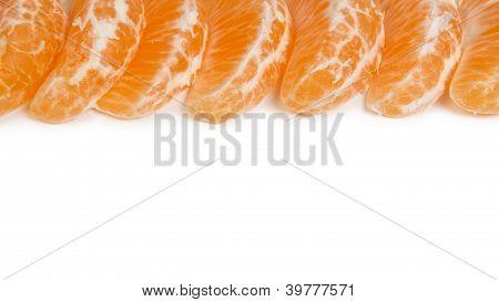 Border From Tangerine Slices