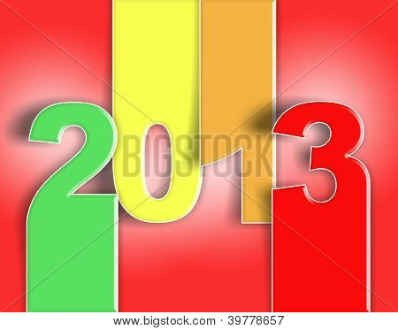 2013 happy new year auguri change rosso