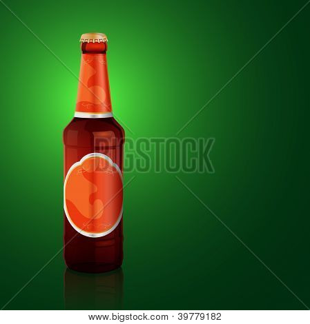 Vektor-Bierflasche