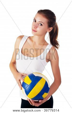 young  beauty volleyball player