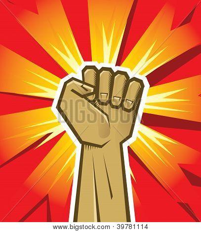Vector revolución mano