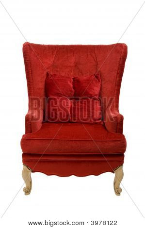 Red Chair With Clipping Path