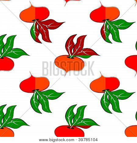 Pattern With Colored Turnip