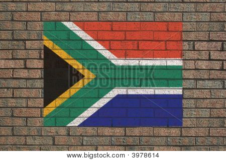 South African Flag On Wall