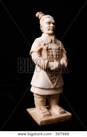 Asian Warrior Statue