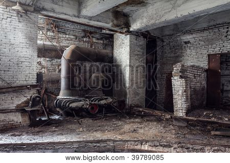 abandoned factory, industrial background