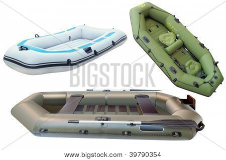 The image of a fishing rubber boats