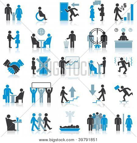 Businessman Icons. Illustration Set