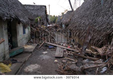 Tsunami Damaged Street