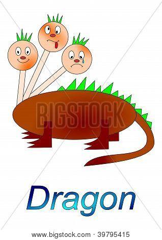 Fairytale character - three-headed dragon