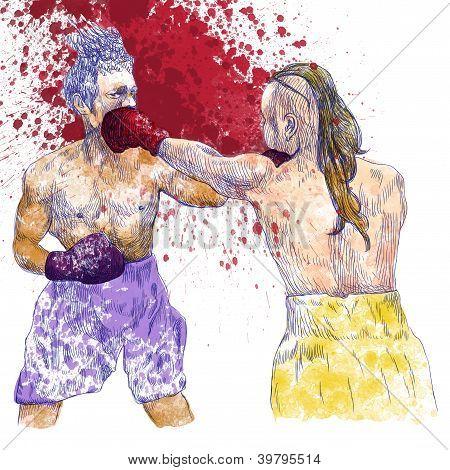 Boxing match - warriors