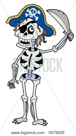 Pirate Skeleton With Sabre