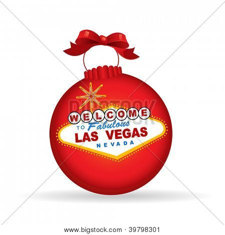 Las Vegas sign christmas bauble - Christmas or New Year