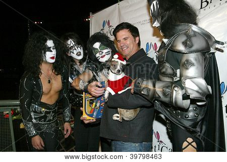 UNIVERSAL CITY - DEC. 4: Lorenzo Lamas & Kiss My Ass band arrive at publicist Mike Arnoldi's birthday celebration & Britticares Toy Drive for Children's Hospital on Dec. 4, 2012 in Universal City, CA.