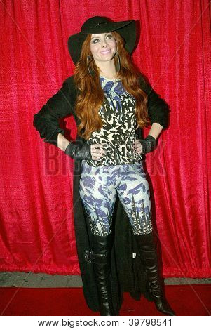 UNIVERSAL CITY - DEC. 4: Phoebe Price arrives at publicist Mike Arnoldi's birthday celebration & Britticares Toy Drive for Children's Hospital on Dec. 4, 2012 in Universal City, CA.
